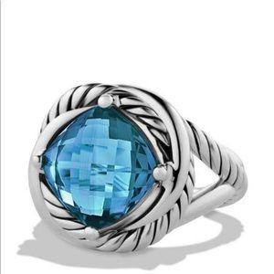 David Yurman Infinity ring 6.5 topaz